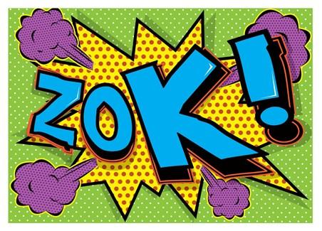 Framed Zok! - Pop Art Explosion