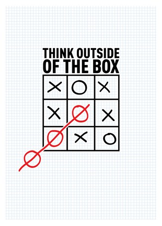 Framed Think Outside The Box - Boxing Clever