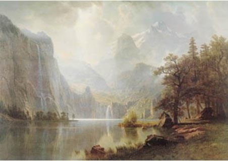 In the Mountains - Albert Bierstadt