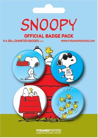 Snoopy and Woodstock - Peanuts Button Badge Pack