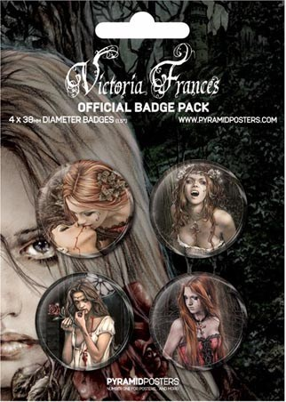 Official Victoria Frances Gothic Art - Victoria Frances Button Badge Pack