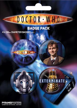 The Tenth Doctor - Doctor Who Badge Pack