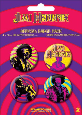 Jimi Hendrix - Jimi Hendrix Button Badge Pack