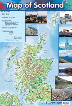 Map Of Scotland Travel Companion Poster Buy Online