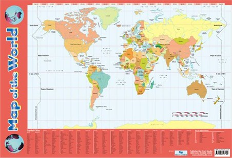 Map Of The World - Educational Map