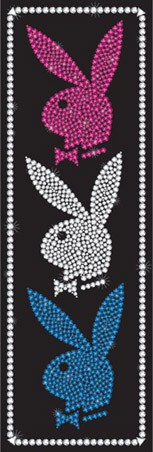 Pink, White and Blue Bling - Hugh Heffner's Playboy