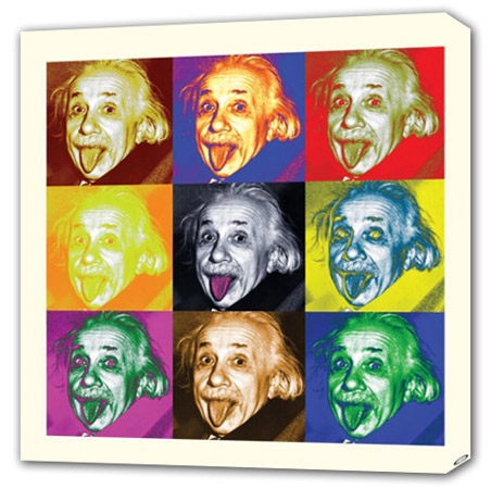 Pop Art Einstein - Albert Einstein Canvas