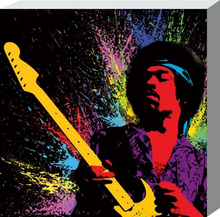 Popart Guitar Legend Jimi Hendrix Canvas Print Popartuk