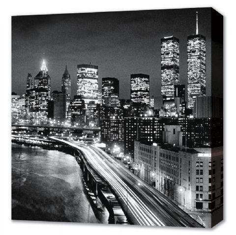 Manhattan by Night - New York City Canvas