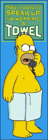 Homer Simpson, Towel - The Simpsons