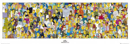 The People of Springfield - The Simpsons Cast