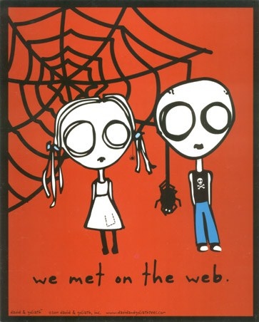 We Met On The Web Eve L Poster Card Buy Online