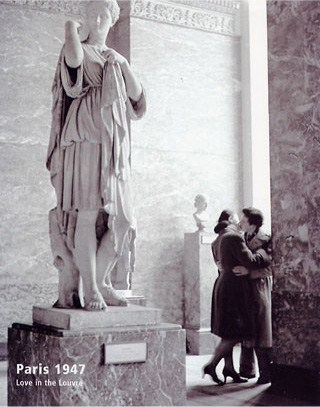 Love in the Louvre - Paris, France 1947