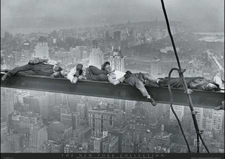 Asleep on a Girder, The Empire State Building - New York City Collection