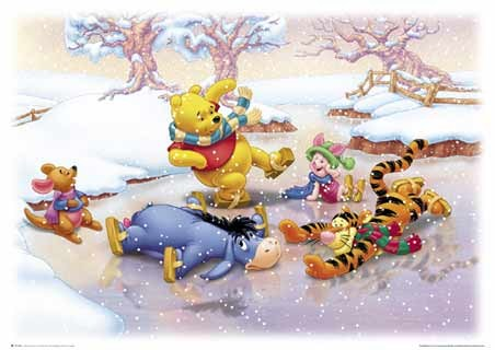 Roo, Piglet, Eeyore, Tigger & Pooh Skating - A. A. Milne 's Winnie the Pooh