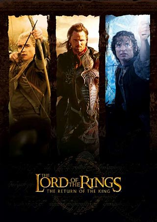 Legolas, Aragorn and Frodo - Lord of the Rings: Return of the King