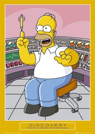 Homer Simpson, Discovery - The Simpsons