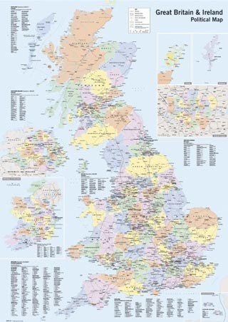 UK & Ireland, Political Map