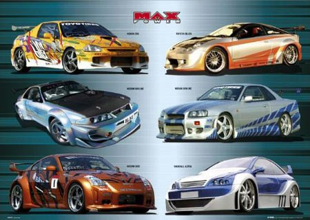 collection of racecars max power poster popartuk. Black Bedroom Furniture Sets. Home Design Ideas