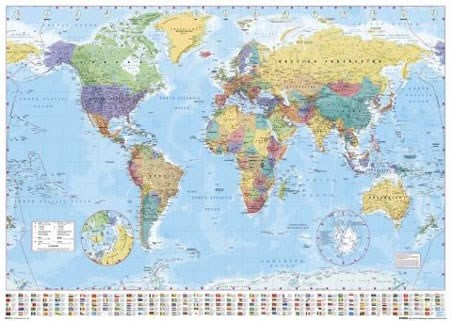 World Map with Flags, World Map