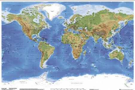 Planetary Visions Map of the Earth Poster Buy Online