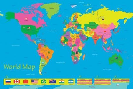 The World in Colour - Children's World Map