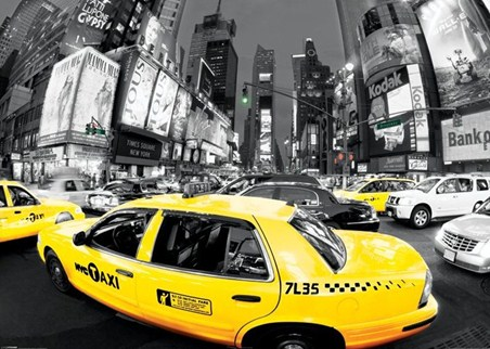 Times Square Rush Hour - New York City