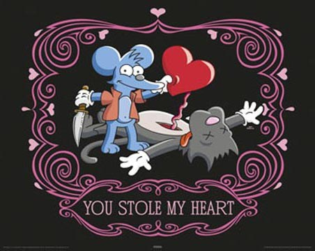 Itchy and Scratchy - You stole My Heart - The Simpsons