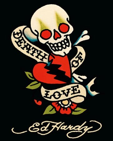 death of love ed hardy poster card buy online