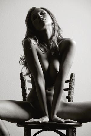 Stunning Erotic Nude - Posing with Chair