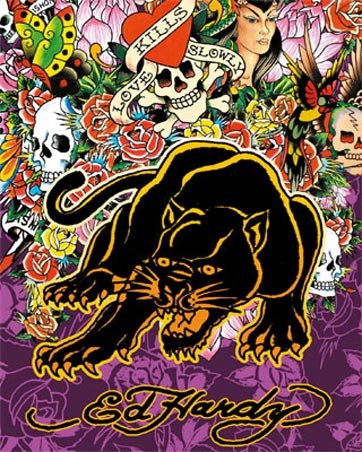 Ed hardy art posters cards prints buy online at - Ed hardy lisa frank ...
