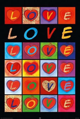 Framed Love Hearts - Love Collage