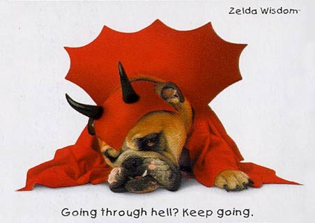 Going Through Hell? Keep Going - Zelda Wisdom
