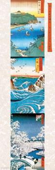 Oriental Art Triptych - Utagawa Hiroshige