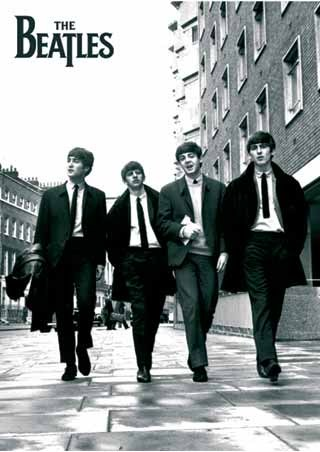 Beatles In London, Black and White Photo, The Beatles
