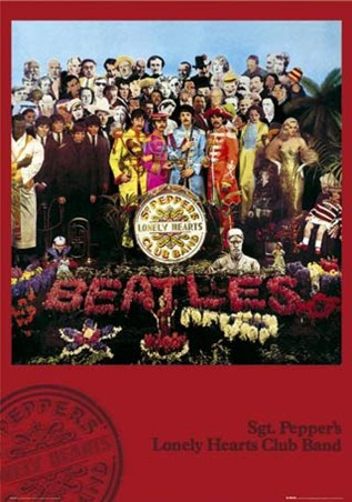 Framed Sgt. Pepper's Lonely Hearts Club Band Album Cover - The Beatles