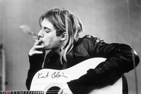 Having a smoke kurt cobain poster