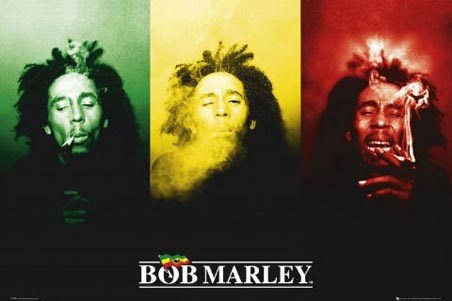 Ganja in Green, Red and Gold - Bob Marley