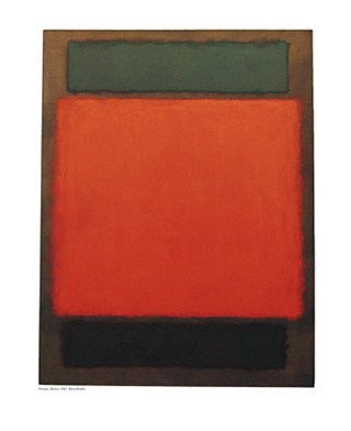 orange and brown mark rothko