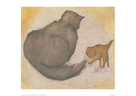 A Cat and a Kitten - Sir Edward Burne-Jones