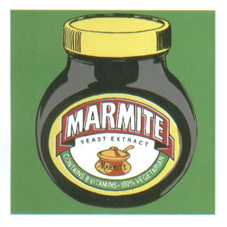 Classic Marmite Jar With Green Background - Pop Art Marmite Jar