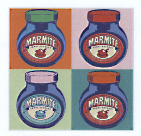 Pop Art Marmite 1 - Pop Art Marmite Jars