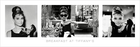 Breakfast At Tiffany's Tryptich - Audrey Hepburn