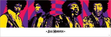 Jimi Hendrix Purple Haze Quad - Musical Genius Tryptich