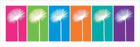 Six Daisies - Pop Art Flowers