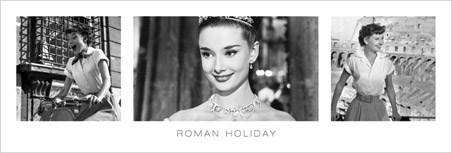 Roman Holiday Triptych - Audrey Hepburn
