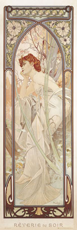 Reverie du soir, The Evening Daydream - By Alphonse Marie Mucha