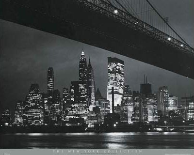 View of Manhattan, from under Brooklyn Bridge, NYC - New York City Collection
