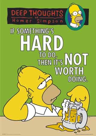 Deep Thoughts - Homer Simpson