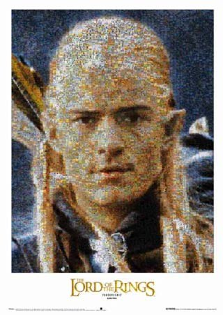 Legolas Mosaic - Lord of the Rings III - Return of the king